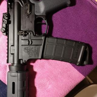 Awesome rifle kit for the price especially. Magpul furniture and rear sight included. Solid build!!