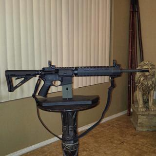 Can't beat Mil-Spec. Added the Magpul SL Handguard, high profile gas block, MBUS sights, and sling.