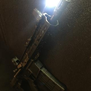 """Another angle of the PSA 8.5"""" Shockwave Pistol Kit w/ 500 lumen Streamlight."""
