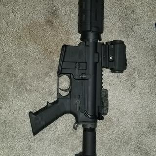 PA15 lower receiver, PSA upper receiver pistol parts kit, magpul blabbity blah, vortex AR Sparc