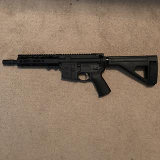 "PSA 8.5"" .300 upper with PSA MOE EPT pistol lower and SB brace. Awesome setup!!!"