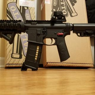 10.5 barrelled upper (with a quad rail) to complete the build.