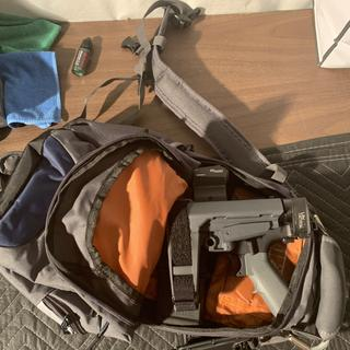 Sba3 with law tactical folding stock and 7.5 barrel, fits in a standard backpack.