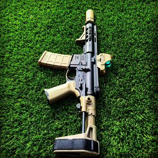 """Got the PSA upper 7.5"""" handguard wkth 8.5 barrel. Let me just say. Wow. Buy it all! Nice touch☠️"""