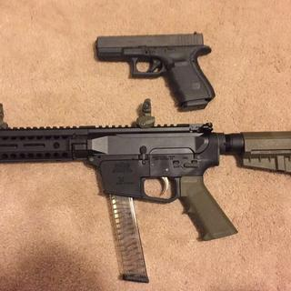 PSA 9 compared to the Glock 19 4th Gen.; Bought this AR9 for mag interchangeability between the two.