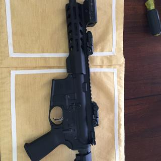 Added the PSA lower with flip up sights and the newer sightmark light/ laser. Shoots great.