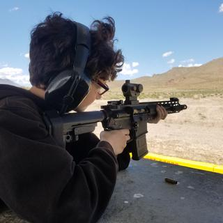 my 10 year old shooting the 300 blkout