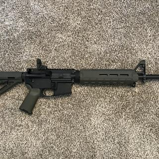 Full shot of Rifle built with Anderson lower