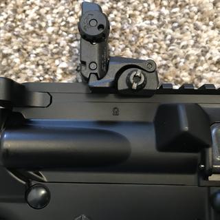 Keyhole forge marking on upper