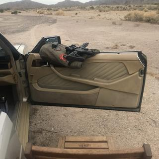 My shooting setup, not the most stable, but adequate on a rare overcast Arizona day