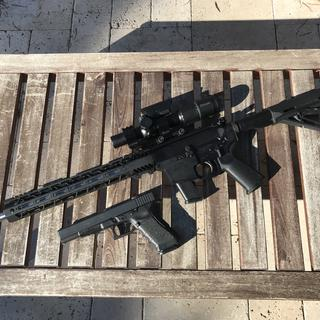 """PSA PX-9 16"""" stainless steel with GLOCK 17L, both 9mmx19mm Luger"""