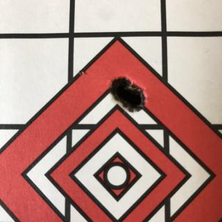 3 shot group at 100 yards using handloads. Exceeded my expectations.