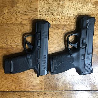 The hellcat compared to a 45 shield