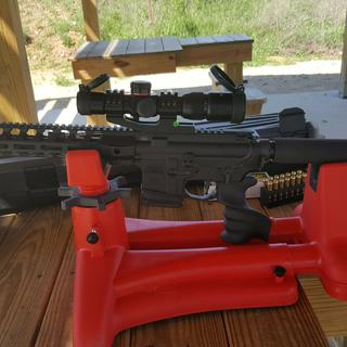 I love this new 300 blackout upper.  Perfect woods gun!  Easy to maneuver.  My new treestand gun