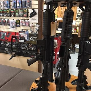 A rack of P15LR Poole's with PSA uppers for sale in our Store in Wickenburg, Az.