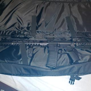 I added a Fab Defense carbine stock and a Sig Sauer Romeo RDS, other than that, all from the kit.