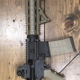 I added a drop in quad rail and a angled fore grip
