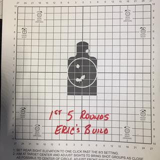 First 5 shots. 30m. (supported) Palmetto build. First time shooting AR-15