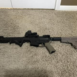 PSA in 300 BLK Runs flawlessly on subsonic and supersonic.  Added a grip,  and holgraphic sight.