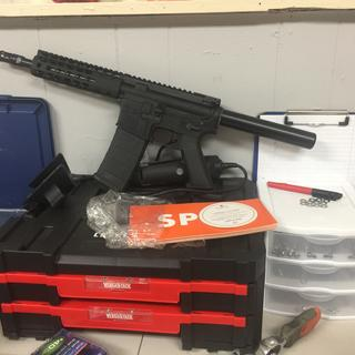 Right before the brace install! Excellent product from Palmetto State Armory!