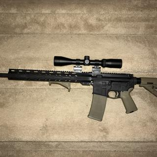 20inch upper. Bushnell trophy 3-9 with cheap mount. Solid shooter.