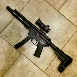 New Frontier Armory C5 receiver that uses MP5 mags.