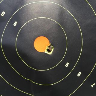 Two shots , 100 yds , stock Remington 700 , 10/2018