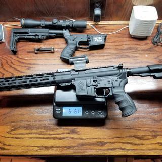 """PSA 10.5"""" Pistol-Length 300AAC Blackout 1/8 Nitride 12"""" Slant M-Lok MOE+ EPT SBA3 Pistol Kit"""