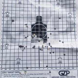 The barrel shoots very accurately. Very good groups. When I took my time.