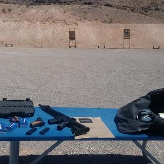 It was pretty hot that day. So after  the rilfe was zeroed in. I rushed the rest if the rounds.