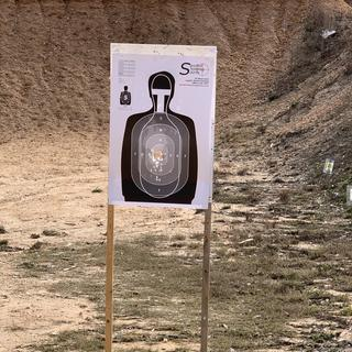 7 yards  50 rounds I am right handed