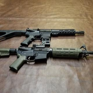 8.5 in  300 blackout and 10.5 in 556