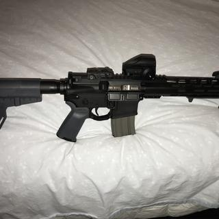 This Palmetto State Armory NIB BCG works great and adds a little bling to my 300 Blackout!