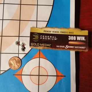 Federal 308 168gr Sierra MatchKing BTHP Gold Medal Ammunition 20rds - GM308M