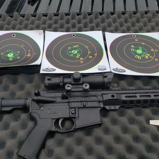 10x at 100yrds the groups dont do the rifle justice  16inch 556