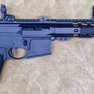 Glock style Ar-15 80% with no safety.