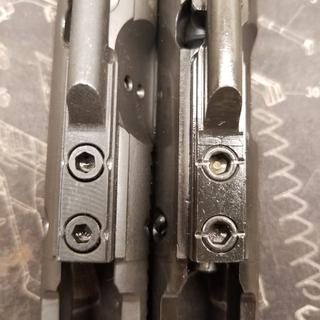 A very well made BCG. Just wish the gas key was staked better. See pic PSA BCG on left.