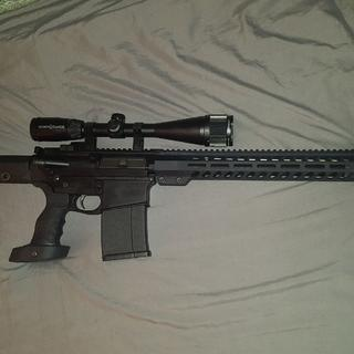 Magpul PRS gen3 stock and custom grip