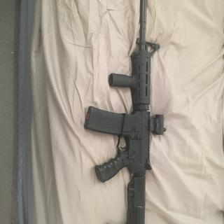 """16"""" on an Anderson lower and has a mission first tactical stock"""