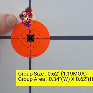 "168 SMK factory seconds, 41.5gr 4064, LC '87 brass, WLR primers, 2.820"" 5 rounds at 50 yards."