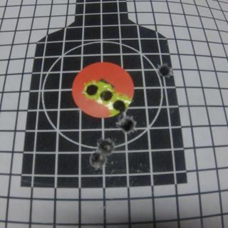 2nd 25 meter zero target zeroed with 6 rounds after getting on paper