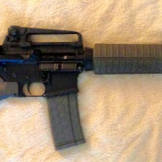CA Compliant M4 with Thorsden FRS-15 GenII stock, A2 Dual Aperture Carry Handle, and Muzzle Brake.