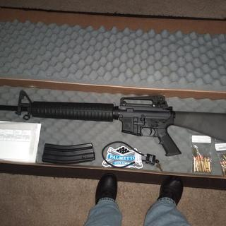 "PSA PA-15 20"" Nitride A2 Rifle-Length 5 56 NATO Classic AR-15 Rifle, Black"