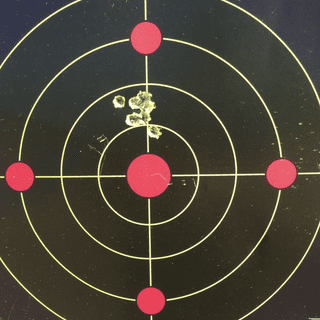 This 100 yard group was possible thanks to the awesome trigger !