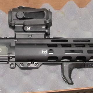 Shows A2 Flash Hider & Vortex AR Sight. I changed to Flaming Pig Flash Hider and Sparc II sight.