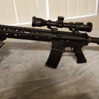 This is my complete 300 Blackout rifle with PSA complete lower, PSA BCG, and PSA charging handle.