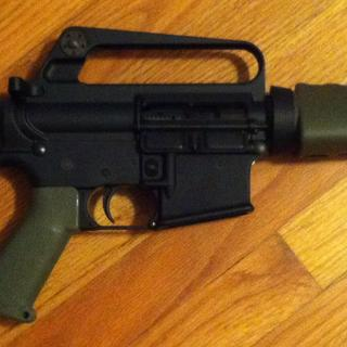 Used PSA upper and lower pistol kit. Swapped out upper, hand guards flash hider and grip.