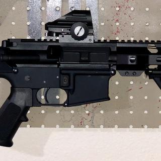 """PSA 8.5"""" Pistol-Length 5.56 NATO 1/7 Nitride 10.5"""" Lightweight M-Lok Upper"""