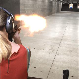 Nice fireball from the short barrel