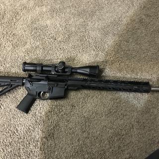 Love my 6.5 Grendel put a 6x24x50 vortex tactical fun gun will buy more in the future